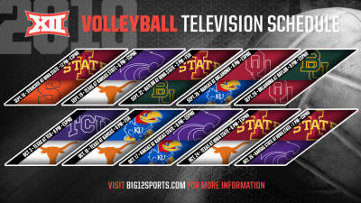 Big 12 Announces 2018 Volleyball Television Schedule