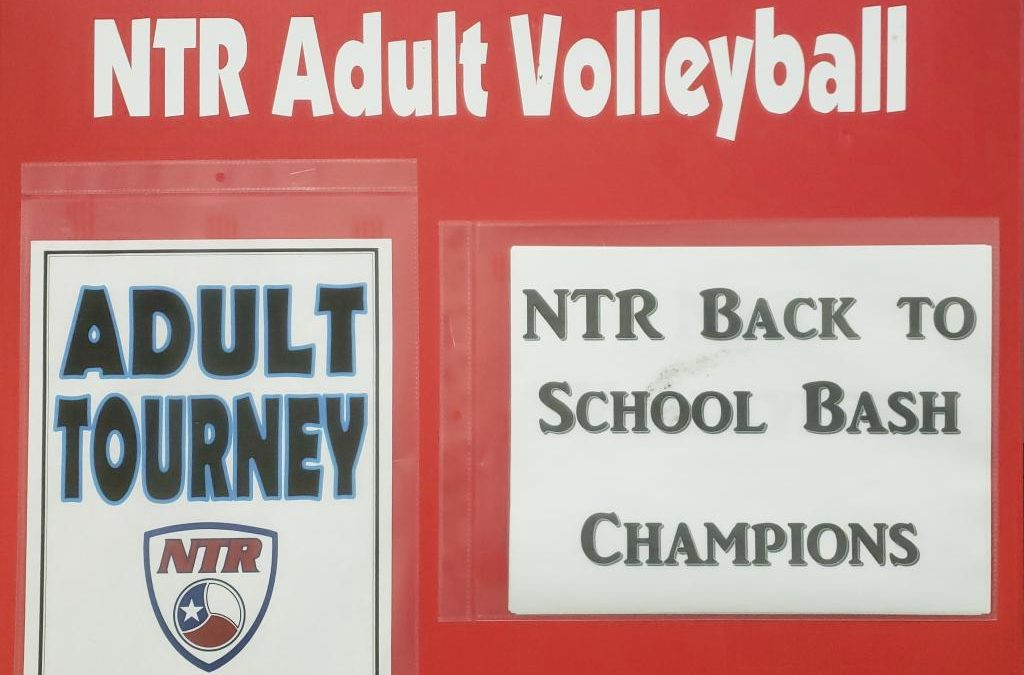 NTR Back to School Bash Adult Tournament Division Winners