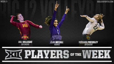 Weekly Volleyball Honors Announced