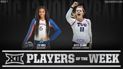 Hill and Clark Earn Volleyball Honors