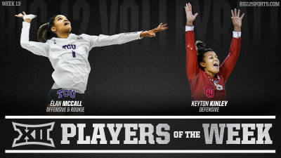 McCall and Kinley Earn Weekly Awards